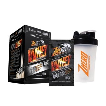 Harga Zhero Whey Protein Isolate with L-Carnitine & Multi-Vitamins รสCreamy Smoothie + Zhero Shaker 600 ml. (แก้วเชค)