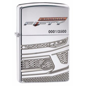 ประเทศไทย Zippo 29478 Limited Edition Chevy Camaro Armor Case High Polish Chrome