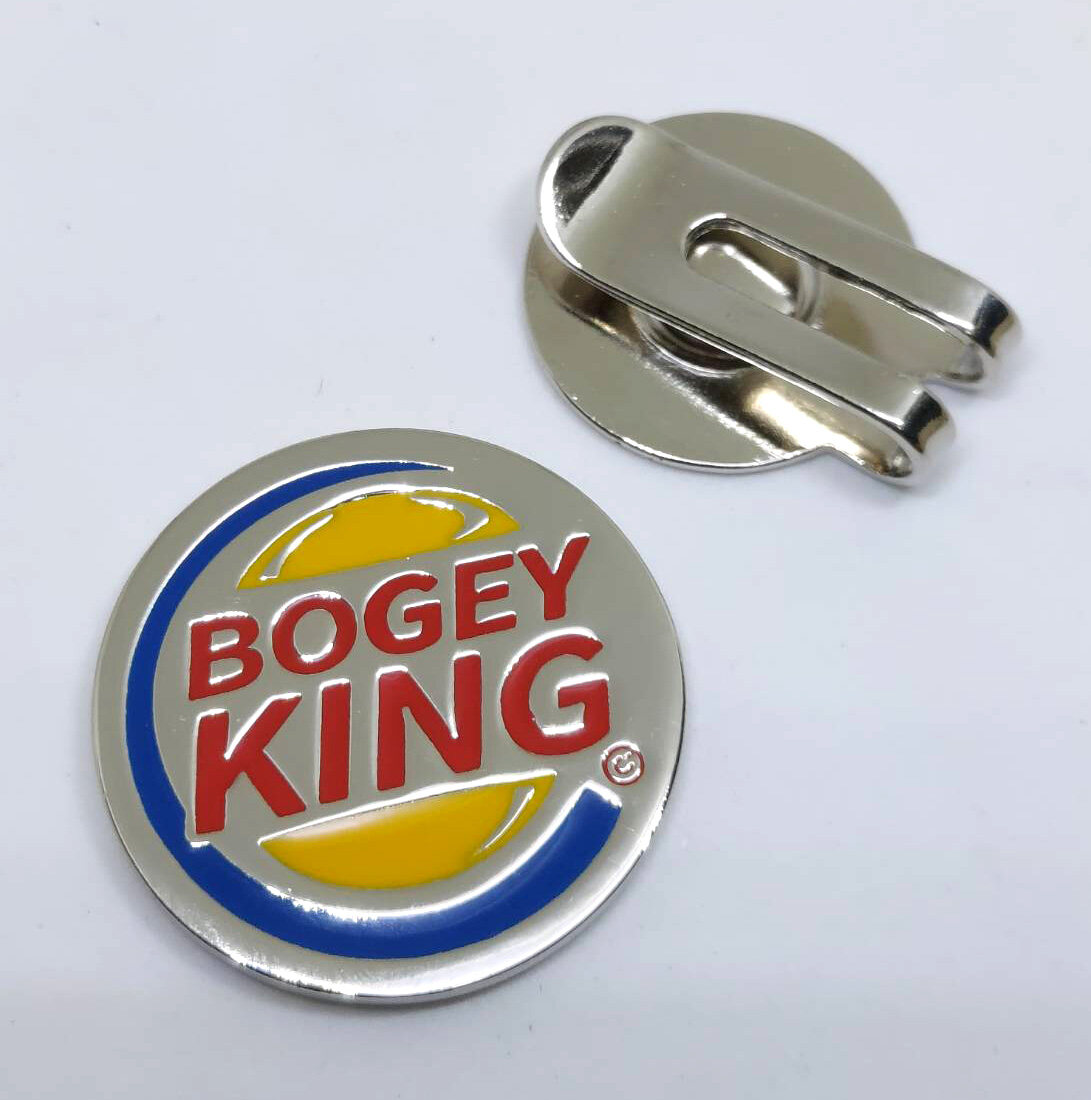 BOGEY KING BIRDY KING Golfaholic Magnetic Golf Ball Marker Hat Clip กอล์ฟ บอลมาร์คเกอร์