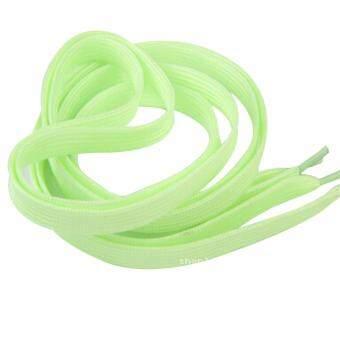 เชือกผูกรองเท้าเรืองแสงในที่มืด 1 คู่ (สีเขียว) รุ่น 1109