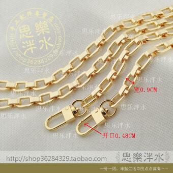 ทองกว้างอัลลอยโซ่โซ่ (เต็มความยาว 100CM พร้อมโคมไฟ 2 หัวเข็มขัด)