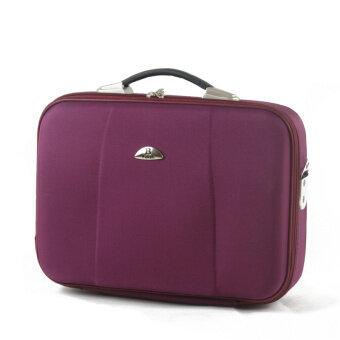 บูติกผู้ชายกระเป๋าถือกระเป๋าเดินทางธุรกิจกระเป๋าเอกสาร (16 นิ้วกระเป๋าเอกสาร [สีม่วงที่มีสายรัด])