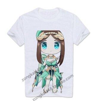 กษัตริย์ผู้ทรงการ์ตูนฤดูร้อนนักเรียนชายโจวเปี่ยนและผู้หญิงแขนสั้นเสื้อยืด (17)