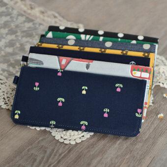 ฮาราจูกุญี่ปุ่นและเกาหลีผ้าใบนักเรียนหญิงกระเป๋าสตางค์ผ้า (แฟนแพคเกจ 2 ชิ้นสีข้อความ)