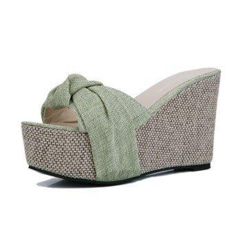 2016 Summer Fashion Platform High Heel Sandals Women Beach Flip Flops Wedge Pump - Intl - intl