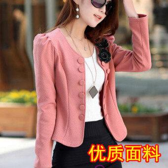 เสื้อสูทผู้หญิงใส่ทำงาน ใหม่ 2017 (สีชมพู [รุ่นที่มีคุณภาพสูง])