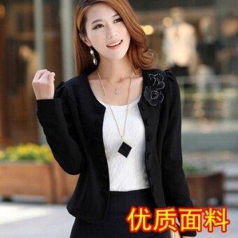 เสื้อสูทผู้หญิงใส่ทำงาน ใหม่ 2017 (สีดำ [รุ่นที่มีคุณภาพสูง])