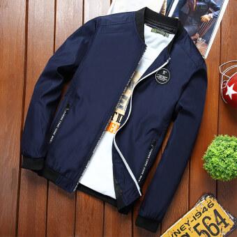 เสื้อแจ็คเก็ตผู้ชายสลิม อินแทรน์ สไตล์เกาหลี ใหม่ 2017 (สีฟ้า)