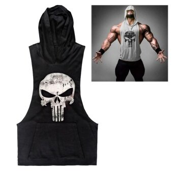 2017 NEW Clothing Fitness Tank Top Men Stringer Golds BodybuildingMuscle Shirt Workout Vest Gyms Undershirt Plus Size(Black) - intl