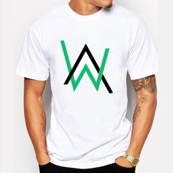 2017 New Fashion Fade Alan Walker Chill House Music Mens ShortSleeve White T-shirt - intl