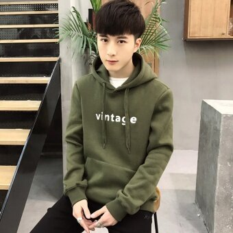 2017 spring men fashionable coat Hooded Sweaters Jacket originalstreet youth head American tide - intl