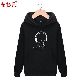 เสื้อกันหนาวมีฮู้ดผู้ชาย ใหม่ 2017 (สีดำ T238)