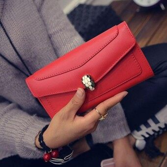 2018 New Style High Quality Beautiful Womens Clutch Wallet Female Lady Coin Purse Bank Card Case ST0808 Red - intl