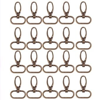20pcs Retro Style Bronze Luggage Bag Buckle Lobster Clasps(Bronze)-30mm - intl