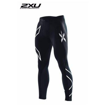 2XU Men's Elite Compression Tights Black/Silver