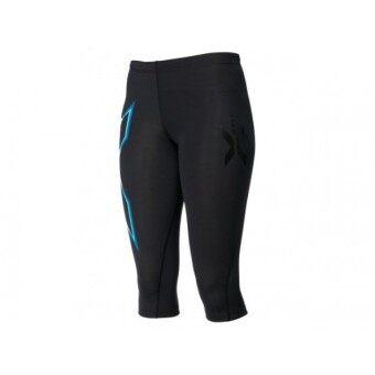 2561 2XU Women s 3/4 Compression Tights กางเกงขายาวรัดกล้ามเนื้อ - WA1943b - Black/Blue XS