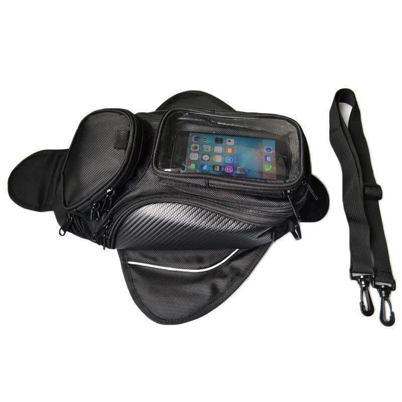 48cm*20cm Magnetic Motorcycle Motorbike Oil Fuel Tank Bag Saddle Bag Waterproof Gig Screen Size High Quality - intl