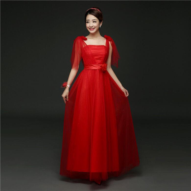 น้องสาวกระโปรงที่จัดเลี้ยงเสื้อผ้าจบการศึกษา (568 [ยาว] สีแดงขนาดใหญ่)