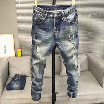 เกาหลีฤดูใบไม้ผลิใหม่ผอมกางเกงผู้ชายกางเกงยีนส์ (603 รุ่น)