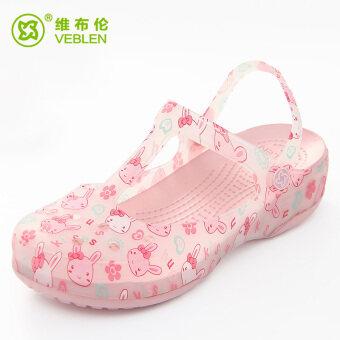 VEBLEN รองเท้าแตะ ลายดอกไม้ แบบกันลื่น (6709 กุหลาบทอง) (6709 กุหลาบทอง)