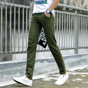 เกาหลีชายยืดกางเกงสลิมผู้ชายกางเกงลำลอง (กองทัพสีเขียว 919 รุ่น)