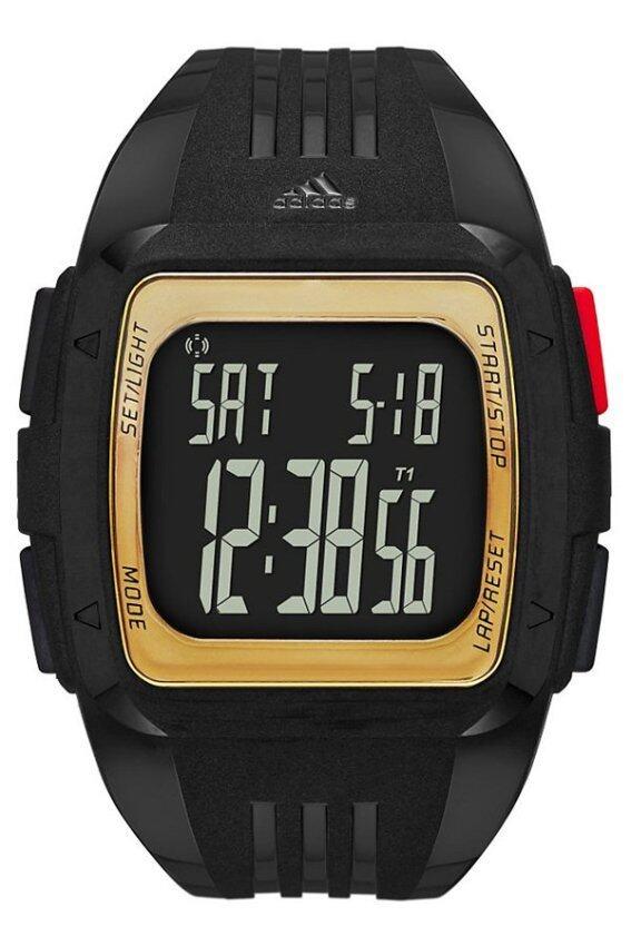 check ราคา Adidas นาฬิกาข้อมือผู้ชาย สีดำ/ทอง  สายเรซิ่น รุ่น ADP6135