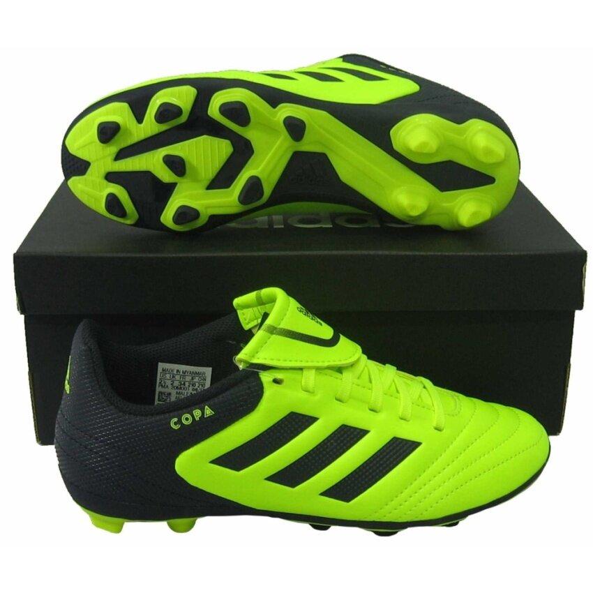 รองเท้ากีฬา รองเท้าสตั๊ดเด็ก Adidas BY-1586 COPA 17.4 FxG J เขียวตอง