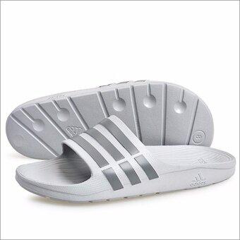 รองเท้าแตะสวม Adidas รุ่น Duramo Slide สีเทา (ของแท้เท่านั้น)
