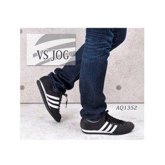 """ADIDAS รองเท้า ผ้าใบ อาดิดาส NEO JOG VS BLACK"""""""