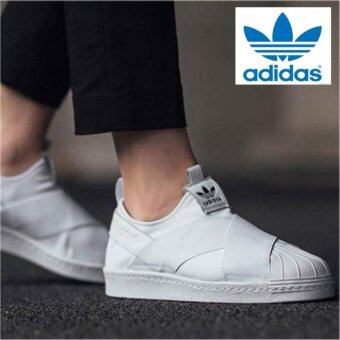 Adidas Originals Superstar Slip On Shoes S81338 White White Express Intl  Models And Prices Thailand April 2018