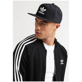 Adidas Originals Trefoil Logo Snapback Trucker Cap S95077 (Black)