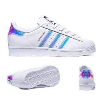 Holographic Superstar Adidas รองเท้าผ้าใบ