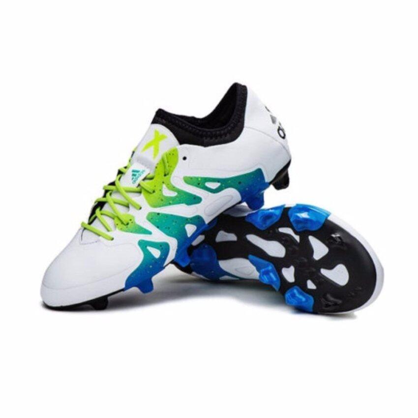 Adidas รองเท้าฟุตบอล X 15.1 FG รุ่นท็อป S74596 (White)