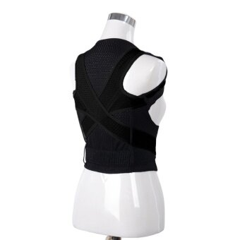 Harga Adjustable Breathable Back Shoulder Support Brace Posture CorrectorCorrection Belt for Adults Kids Men Women Preventing Hunchback SizeXXL - intl