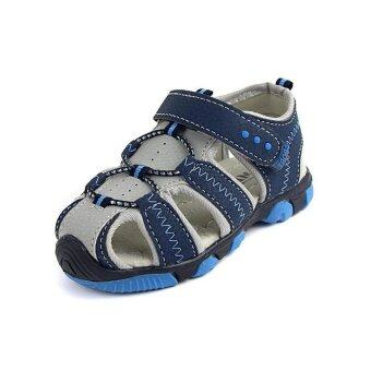 Ai Home Children Velcro Beach Shoes Sports Sandals Water Shoes(Blue) - intl