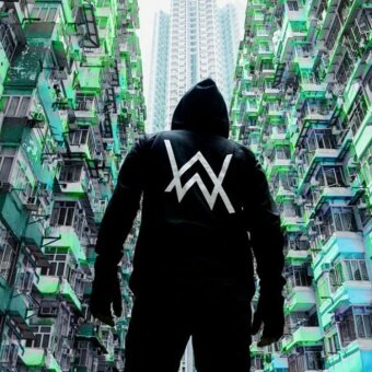 Alan Walker Faded Hoodie The Same Paragraph Set Head Hooded Hip HopSweater Zipper Coat(Black) - intl