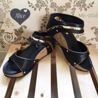 Alice M6-004 รองเท้าแฟชั่น ดำ