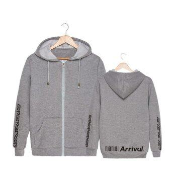 ALIPOP KPOP GOT7 Album FLIGHT LOG ARRIVAL Never Ever FM 2017Concert Cotton Zipper Autumn Hoodies Zip-up Sweatshirts PT453(Gray)- intl