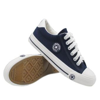 Alisa Shoes รองเท้าผ้าใบแฟชั่น รุ่นAL 9108 Navy
