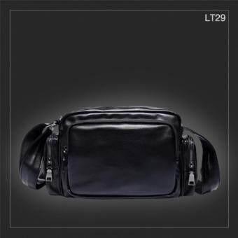 ต้องการขาย LT29 กระเป๋าสะพายข้าง หนัง PU สีดำ กระเป๋าผู้ชาย