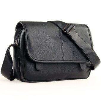 AMAROK Korean Style Messenger Bag กระเป๋าสะพายข้างสไตล์เกาหลี รุ่น9266 (สีดำ)