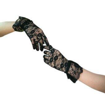 Amartป้องกันแสงแดดอ่อนเครื่องประดับลวดลายลูกไม้ถักถุงมือผ้าถุงมือรูปแบบ