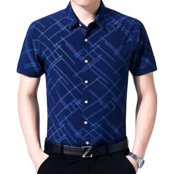 Amart Fashion Men Summer Formal Shirt Short Sleeve Casual Top -intl