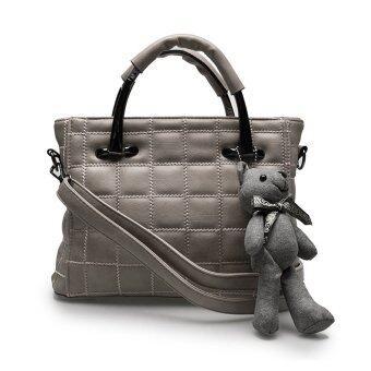 กระเป๋าถือ กระเป๋าสะพายข้าง กระเป๋าสะพายไหล่ รหัส.69163(สีเทา)