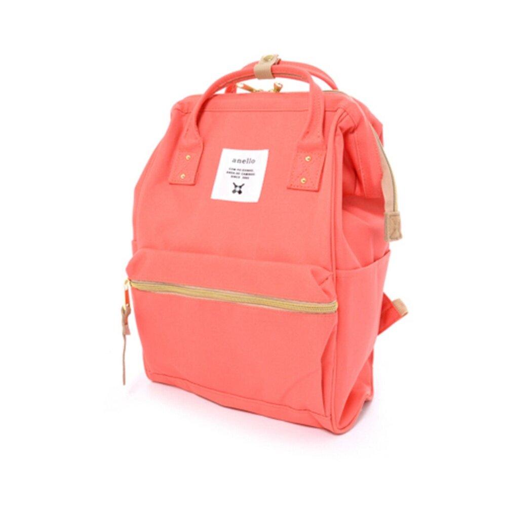 สอนใช้งาน  ชลบุรี Anello mini Canvas Backpack กระเป๋าเป้สะพายหลังขนาดมินิรุ่น B0197B-mini-Coral Pink (สีพีช)