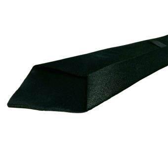 AngAng เนคไทแฟชั่นแบบเส้นใหญ่มีซิบ - สีดำ