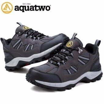 Aquatwoรองเท้ากีฬาน้ำหนักเบา สำหรับเล่นกีฬาและกิจกรรมกลางแจ้ง ปีนเขา เดินป่า พื้นคุณภาพยึดเกาะดีเยี่ยม รุ่น304 สีเทาดำ