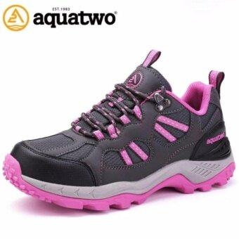 2561 รองเท้าวิ่งเทรล สำหรับผู้หญิง Aquatwo รุ่น 304 กันน้ำอย่างดี ใส่เดินป่า ปีนเขาอย่างมั่นใจ (สีชมพู)