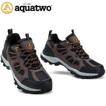 รองเท้าหนังแท้ Aquatwo กันน้ำอย่างดี เดินลุยป่า ปีนเขาอย่างมั่นใจ ทนทาน รุ่น 304 (สีน้ำตาล)