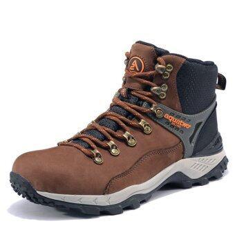 ซื้อ/ขาย Aquatwo รองเท้าหนังแท้ กันน้ำอย่างดี สำหรับลุยป่า ปีนเขา รุ่นS937 (สีน้ำตาลเข้ม)
